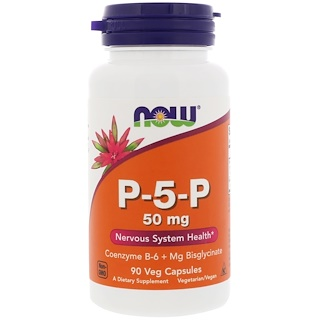 Now Foods, P-5-P, 50 mg, 90 cápsulas vegetales