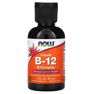 Now Foods, Liquid B-12, B-Complex, 2 fl oz (59 ml) отзывы покупателей