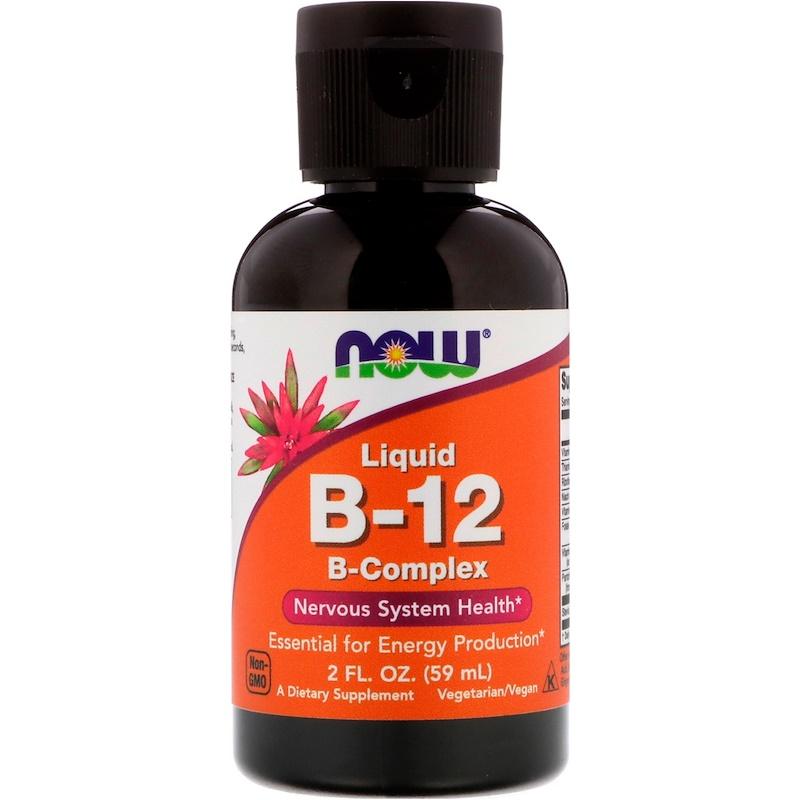 Liquid B-12, B-Complex, 2 fl oz (59 ml)