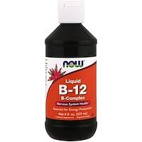 B-12, жидкий, комплекс витамина B, 8 жидких унций (237 мл) - фото