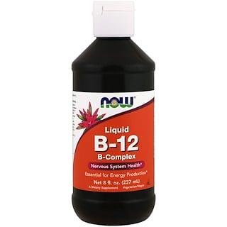 Now Foods, B-12, Complexo-B, Líquido, 8 fl oz (237 ml)