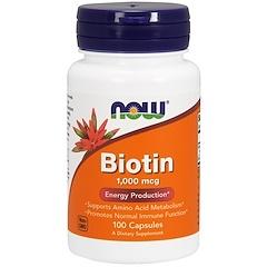 Now Foods, Biotina, 1000 mcg, 100 Cápsulas