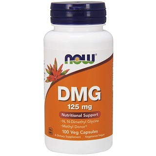 Now Foods, DMG, 125 mg, 100 Veg Capsules