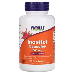 Now Foods, Inositol Capsules, 500 mg, 100 Veg Capsules
