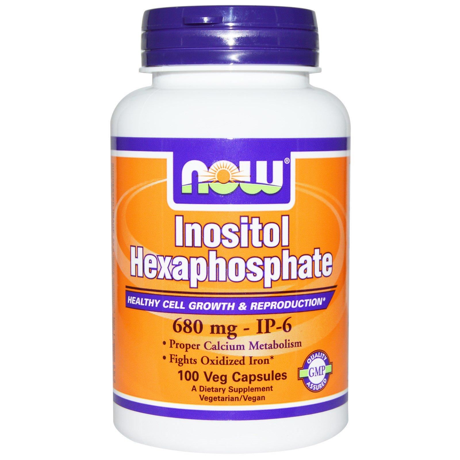 Now Foods, Inositol Hexaphosphate, 100 Veggie Caps (Discontinued Item)