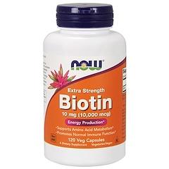 Now Foods, Biotin, 10,000 mcg, 120 Veg Capsules