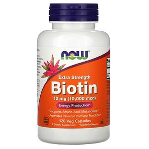 Now Foods, Biotin, 10,000 mcg, 120 Veg Capsules отзывы покупателей