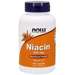 Now Foods, Niacin, 500 mg, 100 Capsules