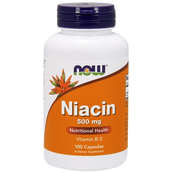 Now Foods, Niacina, 500 mg, 100 cápsulas