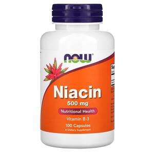 Now Foods, Niacin, 500 mg, 100 Capsules отзывы покупателей