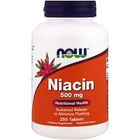Ниацин, 500 мг, 250 таблеток - фото