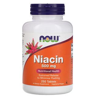 Now Foods, Niacin, 500 mg, 250 Tablets