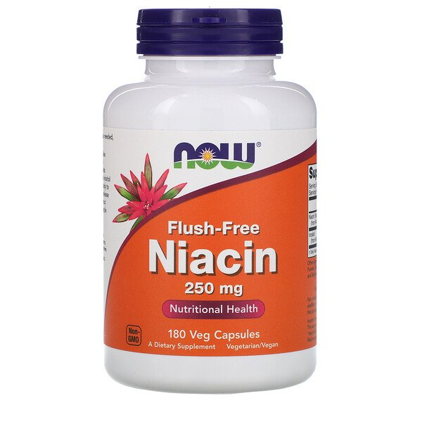 Now Foods, Flush-Free Niacin, 250 mg, 180 Veg Capsules