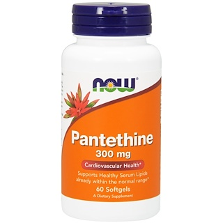 Now Foods, Pantetina, 300 mg, 60 cápsulas softgel