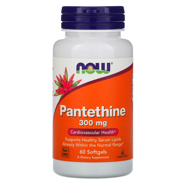 Pantethine, 300 mg, 60 Cápsulas