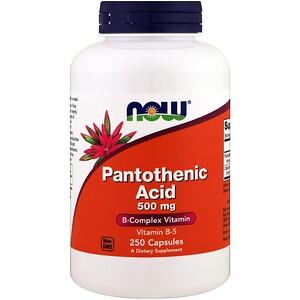 Now Foods, Pantothenic Acid, 500 mg, 250 Capsules отзывы покупателей