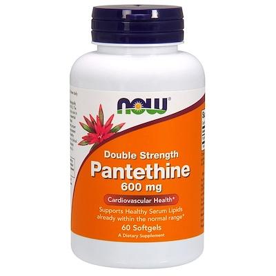 Купить Пантетин, двойная сила, 600 мг, 60 капсул