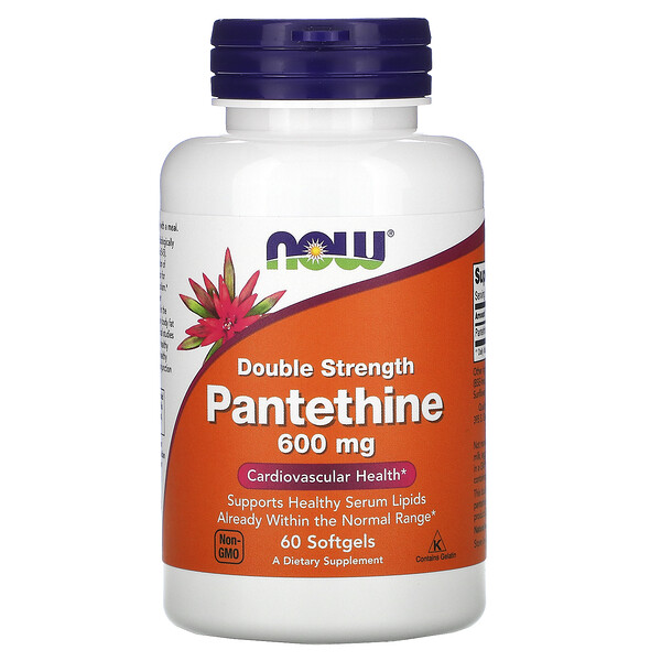 Pantethine, Double Strength, 600 mg, 60 Softgels