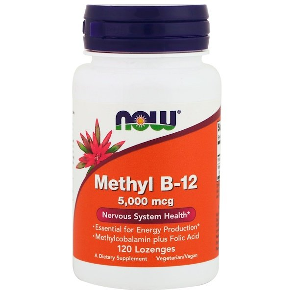 Now Foods, Methyl B-12, 5000 mcg, 120 Lozenges