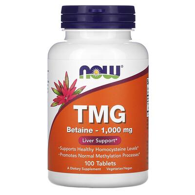 Купить Now Foods TMG, 1000мг, 100таблеток