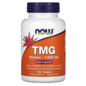 Now Foods, TMG, 1,000 mg, 100 Tablets отзывы