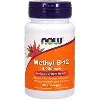 Метил B- 12, 5000 мкг , 60 таблеток для рассасывания - фото