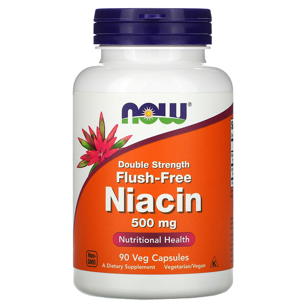 Flush-Free Niacin, Double Strength, 500 mg, 90 Veg Capsules