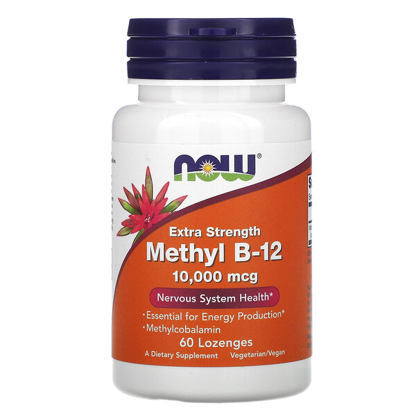 Extra Strength Methyl B-12, 10,000 mcg, 60 Lozenges