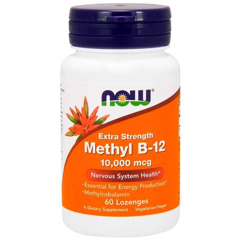 Methyl B-12, Extra Strength, 10,000 mcg, 60 Lozenges