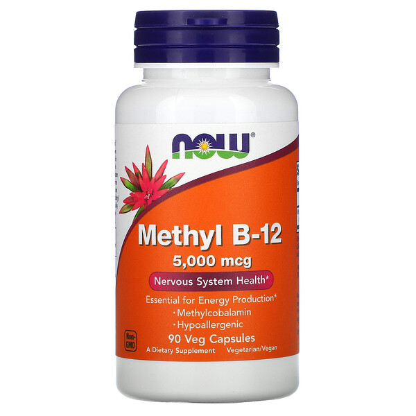 Methyl B-12, 5,000 mcg, 90 Veg Capsules