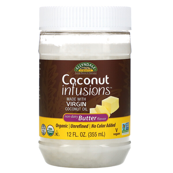 Ellyndale Naturals, Coconut Infusions, Non-Dairy Butter Flavor, 12 fl oz (355 ml)