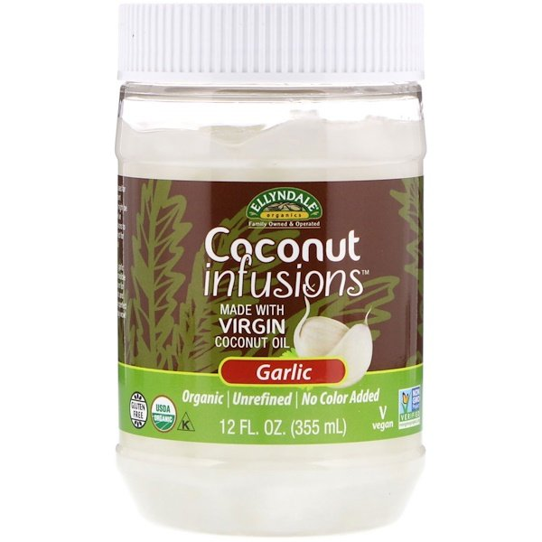 Ellyndale Naturals, Coconut Infusions, Garlic Flavor, 12 fl oz (355 ml)
