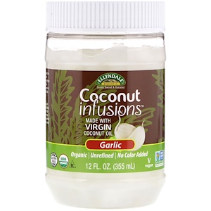 Now Foods, Ellyndale Naturals, Coconut Infusions, Garlic Flavor, 12 fl oz (355 ml) отзывы