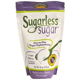 Now Foods, Ellyndale Naturals, Sugarless Sugar, 18 oz (510 g)