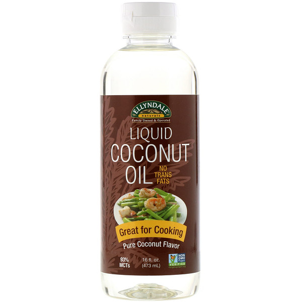 Now Foods, Ellyndale Naturals, Liquid Coconut Oil, Pure Coconut Flavor, 16 fl oz (473 ml)