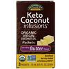 Now Foods, زبدة جوز الهند Ellyndale Naturals، Keto Coconut Infusions، نكهة الزبدة خالية من الألبان، 3 قطع، 0.5 أونصة سائلة (15 مل) لكل قطعة