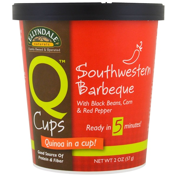 Now Foods, Ellyndale Naturals, Quinoa Cups, Southwestern Barbeque, 2 oz (57g) (Discontinued Item)