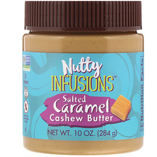 Now Foods, Ellyndale Naturals, Nutty Infusions, Salted Caramel Cashew Butter, 10 oz (284 g)