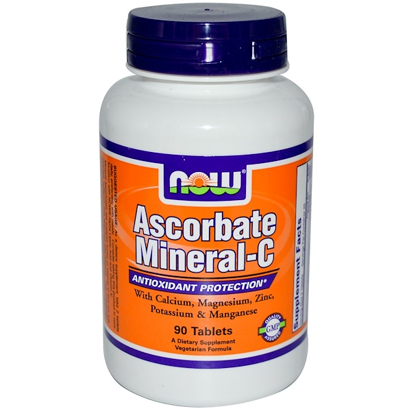 Now Foods, Ascorbate Mineral-C, 90 Tablets (Discontinued Item)