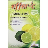 Отзывы о Now Foods, Effer-C, шипучий напиток, лимон-лайм, 30 пакетиков, (7,5 г) каждый