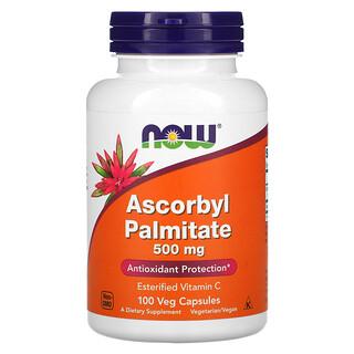 Now Foods, Ascorbyl Palmitate, Ascorbylpalmitat, 500mg, 100pflanzliche Kapseln