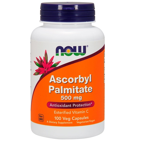 Now Foods, Ascorbyl Palmitate, 500 mg, 100 vegetarische Kapseln