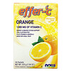 Now Foods, Effer-C, Effervescent Drink Mix, Orange, 30 Packets, 7.5 g Each