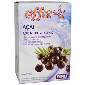 Now Foods, Effer-C, Effervescent Drink Mix, Acai, 30 Packets, 5.82 oz (165 g) отзывы