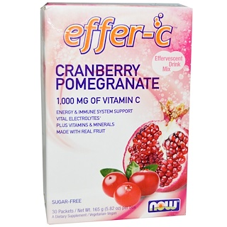 Now Foods, Effer-C, Cranberry Pomegranate, 30 Packets