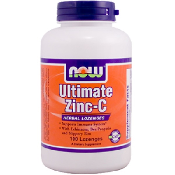 Now Foods, Ultimate Zinc-C, 100 Lozenges (Discontinued Item)