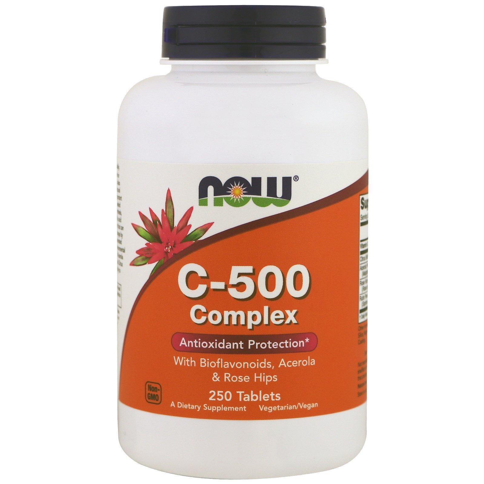 Now Foods, С-500 комплекс, 250 таблеток