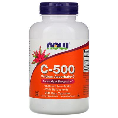 Купить Now Foods C-500, Аскорбат кальция-C, 250 капсул