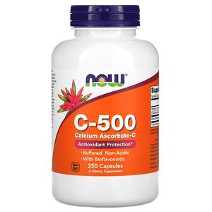 Now Foods, C-500, Calcium Ascorbate-C, 250 Capsules отзывы покупателей