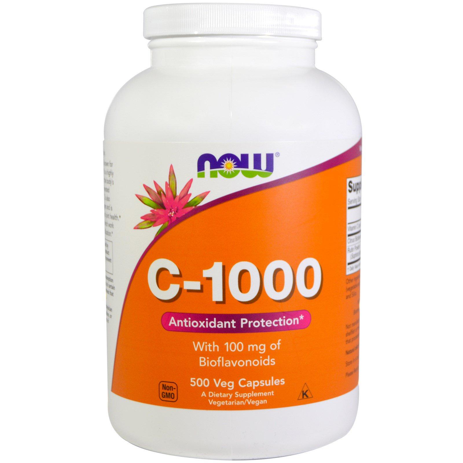 Now Foods, C-1000, 500 вегетарианских капсул